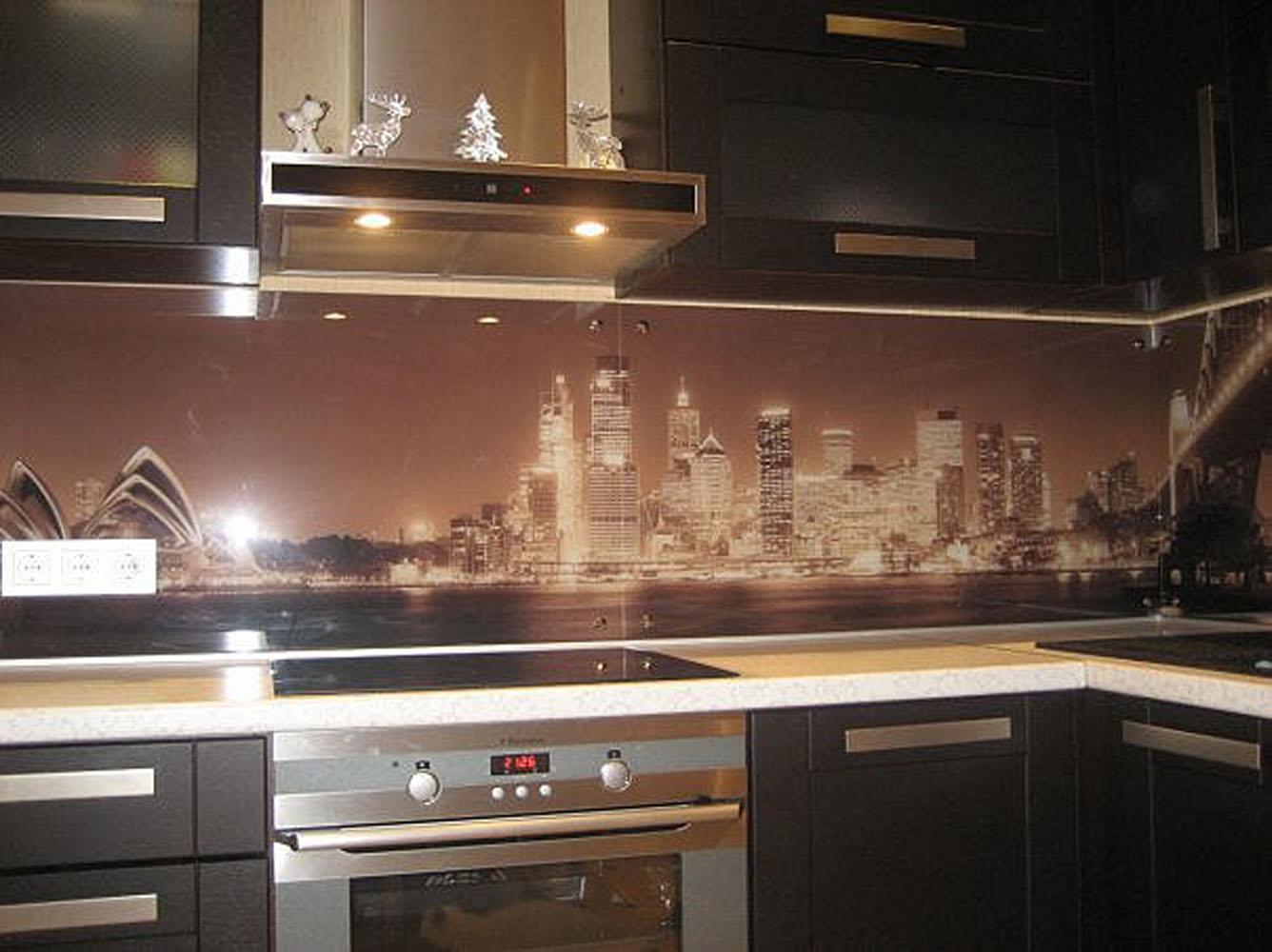 Кухонные панели из стекла фото