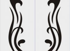 Пескоструйный рисунок для дверей-купе - 1134