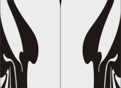 Пескоструйный рисунок для дверей-купе - 1148