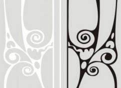 Пескоструйный рисунок для дверей-купе - 1155